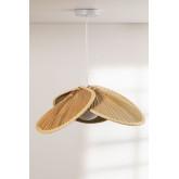 Candeeiro de tecto em folha de coco (Ø53 cm) Kilda, imagem miniatura 2