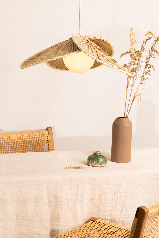 Candeeiro de tecto em folha de coco (Ø53 cm) Kilda, imagem de galeria 1