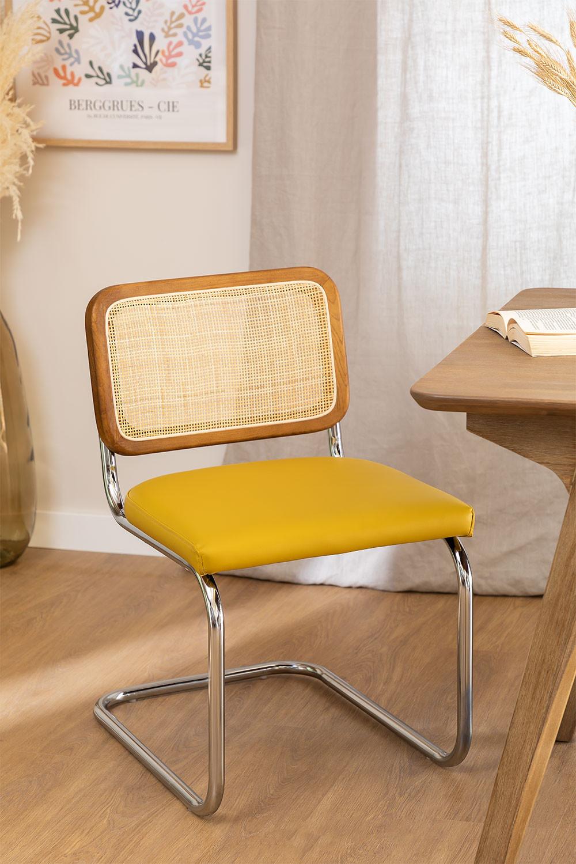 Cadeira de jantar em couro vintage Tento, imagem de galeria 1