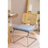 Cadeira de jantar de veludo vintage Tento, imagem miniatura 1