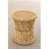 Mesa lateral redonda de bambu (Ø34 cm) Ganon, imagem miniatura 2