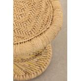Mesa lateral redonda de bambu (Ø34 cm) Ganon, imagem miniatura 3