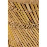 Mesa lateral redonda de bambu (Ø34 cm) Ganon, imagem miniatura 4
