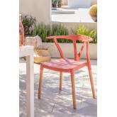 Cadeira de jardim em polietileno e madeira uish, imagem miniatura 1
