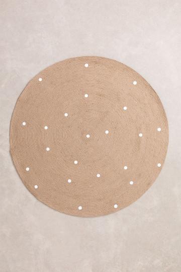 Tapete redondo de juta natural (Ø150 cm) Naroh