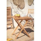 Mesa de jardim (60x60 cm) em madeira de teca Nicola, imagem miniatura 1