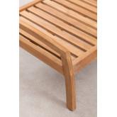 Repousa-pés de jardim em madeira de teca Confi, imagem miniatura 4