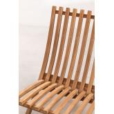 Poltrona dobrável para jardim em madeira teca Pira, imagem miniatura 5