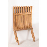 Poltrona dobrável para jardim em madeira teca Pira, imagem miniatura 6