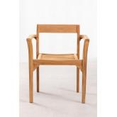 Cadeira de jardim em madeira de teca Aivan, imagem miniatura 3