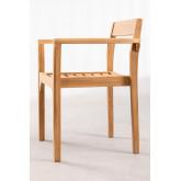 Cadeira de jardim em madeira de teca Aivan, imagem miniatura 4