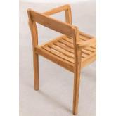 Cadeira de jardim em madeira de teca Aivan, imagem miniatura 5