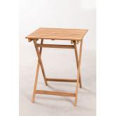 Mesa de jardim (60x60 cm) em madeira de teca Nicola, imagem miniatura 3
