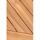 Conjunto de mesa redonda e 2 cadeiras dobráveis para jardim em madeira de teca Pira, imagem miniatura 5