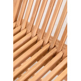 Conjunto de mesa redonda e 2 cadeiras dobráveis para jardim em madeira de teca Pira, imagem miniatura 6
