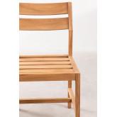 Cadeira de jardim em Yolen de madeira de teca, imagem miniatura 4