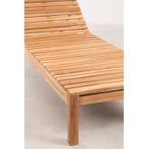 Espreguiçadeira de madeira de teca Kurni, imagem miniatura 6