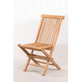Conjunto de Jardim Mesa Retangular Dobrável e 2 Cadeiras em Madeira Teca Pira, imagem miniatura 3