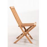Conjunto de Jardim Mesa Retangular Dobrável e 2 Cadeiras em Madeira Teca Pira, imagem miniatura 4