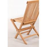 Conjunto de Jardim Mesa Retangular Dobrável e 2 Cadeiras em Madeira Teca Pira, imagem miniatura 5