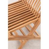 Conjunto de Jardim Mesa Retangular Dobrável e 2 Cadeiras em Madeira Teca Pira, imagem miniatura 6