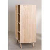 Guarda-roupa de madeira estilo Ralik com 1 porta, imagem miniatura 5