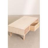 Mesa de centro de madeira com gaveta central estilo Ralik, imagem miniatura 5