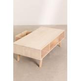 Mesa de centro de madeira com gaveta central estilo Ralik, imagem miniatura 6