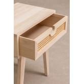 Mesa de cabeceira estilo Ralik com gaveta em madeira, imagem miniatura 4