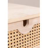 Mesa de cabeceira estilo Ralik com gaveta em madeira, imagem miniatura 5