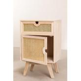 Mesa de cabeceira com armazenamento de madeira estilo Ralik, imagem miniatura 3
