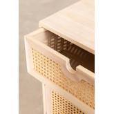 Mesa de cabeceira com armazenamento de madeira estilo Ralik, imagem miniatura 4