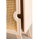 Mesa de cabeceira com armazenamento de madeira estilo Ralik, imagem miniatura 5
