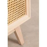 Aparador de madeira estilo Ralik com gavetas, imagem miniatura 6
