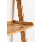 Mesa de madeira de carvalho estilo Zina com prateleiras, imagem miniatura 4