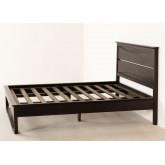 Cama de madeira de teca para colchão somy 160 cm, imagem miniatura 3