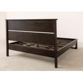 Cama de madeira de teca para colchão somy 160 cm, imagem miniatura 4