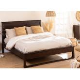 Cama de madeira de teca para colchão somy 160 cm, imagem miniatura 1