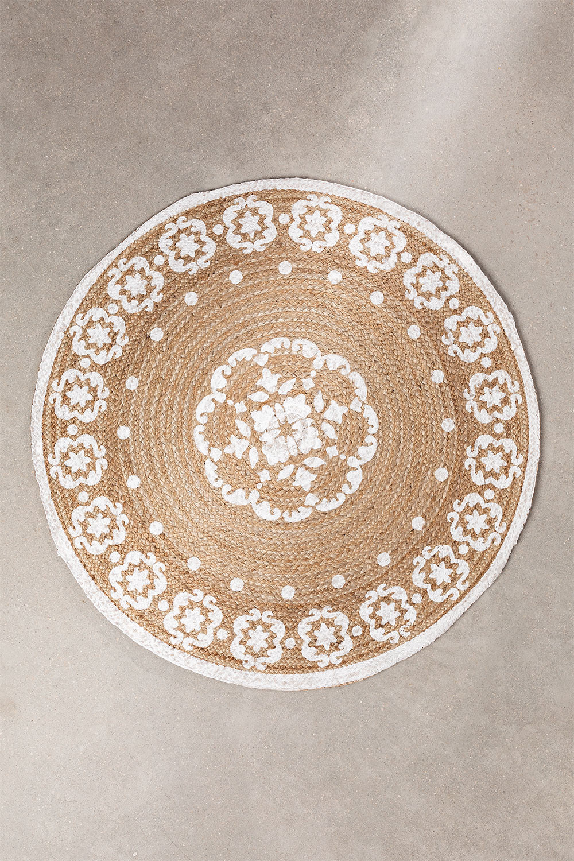 Tapete redondo de juta natural (Ø100 cm) Iglika, imagem de galeria 1