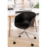 Cadeira de Escritório com Rodas Metalizada Yäh, imagem miniatura 1