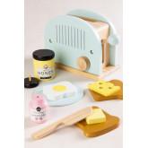 Conjunto de café da manhã infantil Branx com sanduicheira de madeira, imagem miniatura 1