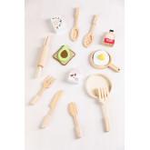Conjunto de café da manhã de madeira para crianças Acatte, imagem miniatura 1