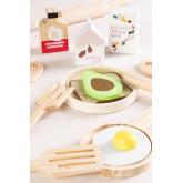 Conjunto de café da manhã de madeira para crianças Acatte, imagem miniatura 2