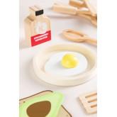 Conjunto de café da manhã de madeira para crianças Acatte, imagem miniatura 3