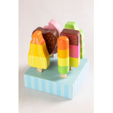 Conjunto de 6 sorvetes de madeira Friggo Kids, imagem miniatura 1