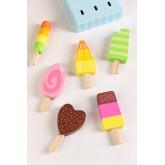 Conjunto de 6 sorvetes de madeira Friggo Kids, imagem miniatura 2