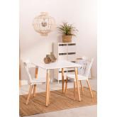 Conjunto de mesa real (80x80) e 2 cadeiras reais , imagem miniatura 1