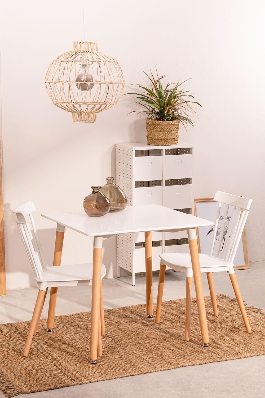 Conjunto de mesa real (80x80) e 2 cadeiras reais , imagem de galeria 1