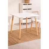 Conjunto de mesa real (80x80) e 2 cadeiras reais , imagem miniatura 2