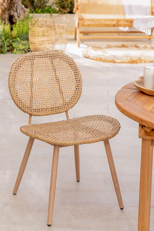 Cadeira de jardim de vime sintética Mity, imagem de galeria 1